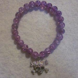 NWOT. Purple Skull Bracelet